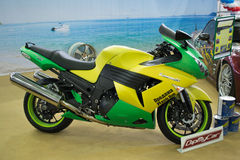 Kawasaki-motorfiets Royalty-vrije Stock Foto