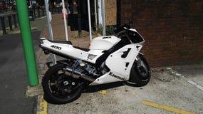 Kawasaki 400 motorfiets royalty-vrije stock foto's