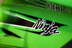 Kawasaki Ninja Motorbike Detail Stock Images