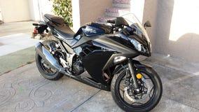 Kawasaki Ninja 300 Motorcycle. In Black royalty free stock photography