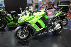 Kawasaki Ninja 1000 Motorcycle on display Stock Photos