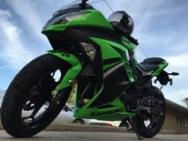 2014 Kawasaki-ninja 300 SE Royalty-vrije Stock Afbeeldingen