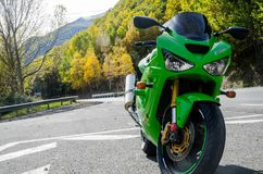 Kawasaki ninja zx6r 2004 nature royalty free stock photo