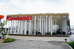 Kawasaki Pavilion, BOI Fair 2011 Thailand Royalty Free Stock Photos
