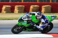 Kawasaki racing bike stock photography
