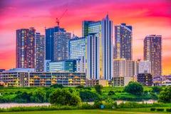 Kawasaki, skyline de Japão Imagens de Stock