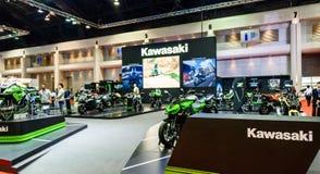 Kawasaki-Stand an der 36. Bangkok-Internationalen Automobilausstellung Stockfotografie