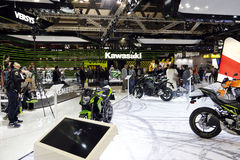 The kawasaki stand at EICMA  2016 Royalty Free Stock Image