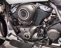 2014 Kawasaki Vulcan Nomad Engine, demostración de la motocicleta de Michigan Fotos de archivo