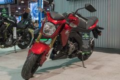 Kawasaki Z 125 na exposição Imagens de Stock Royalty Free