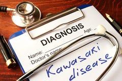 Kawasaki-ziekte royalty-vrije stock afbeeldingen