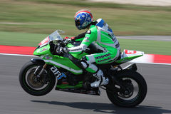 Kawasaki ZX-10R official racing team. Kawasaki ZX-10R Misano 2011 SBK superbike championship Stock Images