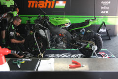 Kawasaki ZX-10R official racing team WSBK royalty free stock photos