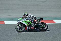 Kawasaki ZX 10R-team 85 di corsa Immagine Stock
