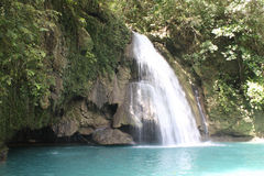 Kawasan Fall. The picture was taken in the small city of Badian. Kawasan Fall - Philippines stock images