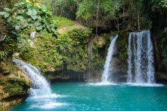 Kawasan Falls on Cebu island in Philippines Stock Photo