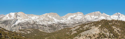 Kaweah Peaks Ridge Panorama Royalty Free Stock Image