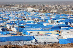 Kawergosk refugee camp Royalty Free Stock Photo