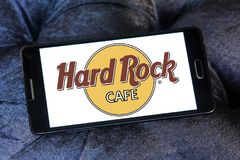 kawiarni łańcuszkowych ciężkich loga restauracj rockowy temat obrazy stock