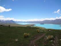 kawiarni lato krajobrazowy nowy Zealand obraz stock