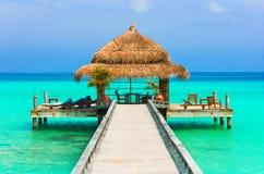 kawiarni plażowa woda Obraz Royalty Free