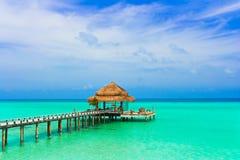 kawiarni plażowa woda Zdjęcia Royalty Free
