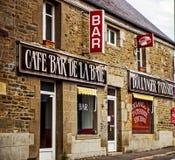 Kawiarnia bar w Cherbourg, Francja Zdjęcia Stock