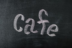 Kawiarnia kredowego ręcznie pisany nadmiernego rocznika retro chalkboard zdjęcia royalty free