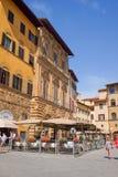 kawiarnia na kwadracie przed Palazzo Vecchio Zdjęcia Royalty Free
