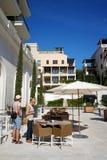 Kawiarnia na nabrzeżu Zdjęcia Royalty Free