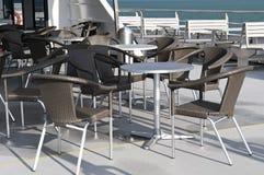 Kawiarnia na statku Obrazy Royalty Free