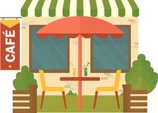 Kawiarnia na ulicie Zdjęcie Royalty Free