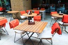 Kawiarnia na ulicie na Białym kwadracie, Moskwa, 15 07 17 Fotografia Stock
