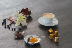 kawiarnia póżno Obrazy Royalty Free