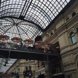 Kawiarnia pod parasolem Obrazy Royalty Free
