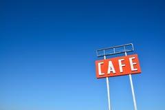Kawiarnia podpisuje wewnątrz Teksas zdjęcie royalty free