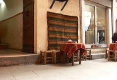 kawiarnia stół Zdjęcie Royalty Free