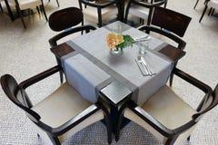 Kawiarnia stół, set Dla klientów Zdjęcie Royalty Free