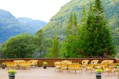 Kawiarnia taras zdjęcia royalty free