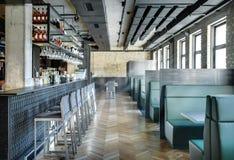 Kawiarnia w loft stylu zdjęcie royalty free