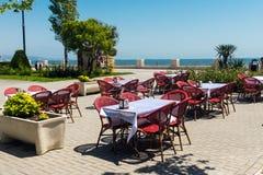 Kawiarnia w nadmorski parku Obraz Royalty Free