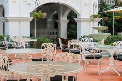 Kawiarnia w podwórzu Raffles hotele, Singapur zdjęcie royalty free