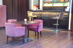 kawiarnia z baru stojakiem Zdjęcia Royalty Free