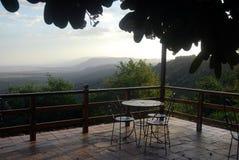 Kawiarnia z widokiem Fotografia Royalty Free