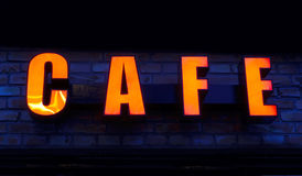 kawiarnia znak Fotografia Stock