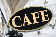 Kawiarnia znak Zdjęcie Stock