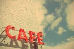 Kawiarnia znak Obrazy Stock