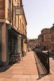Kawiarnie w George St, skąpanie, Anglia, UK fotografia stock