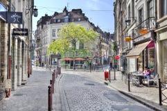 Kawiarnie w starej części Lille, Francja Zdjęcia Royalty Free
