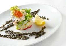 kawior dekorująca rybia owoc sałatka Zdjęcie Stock